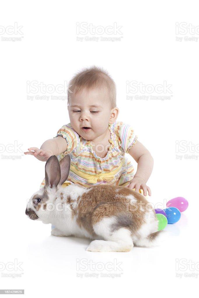 Rabbit and Baby stock photo