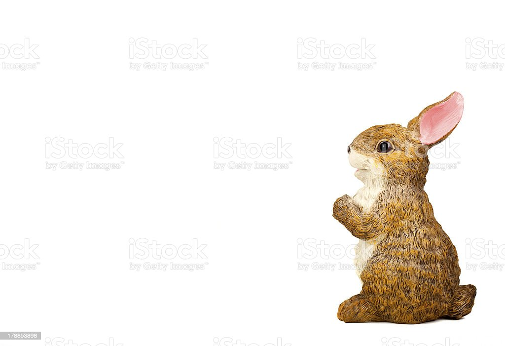 Rabbit Ceramic Sculpture royalty-free stock photo