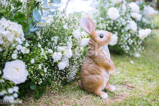 925481382 istock photo Rabbit dolls decorated in a wedding ceremony. 1171059246