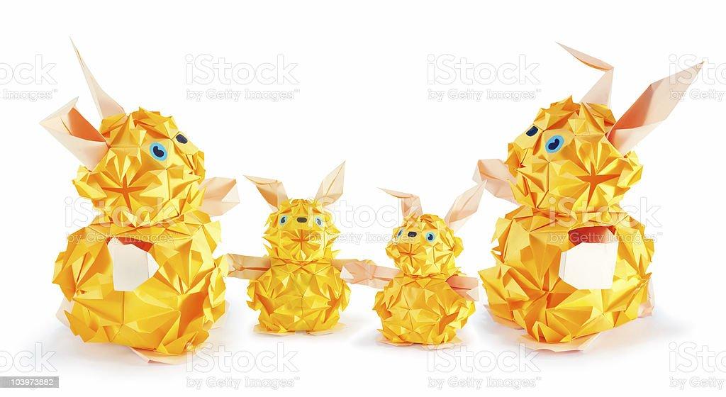 rabbit family royalty-free stock photo