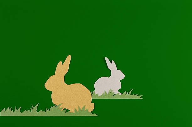 Coniglio su sfondo verde - foto stock