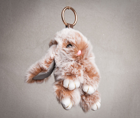 istock Rabbit puff pendant for mobile phone 941024258
