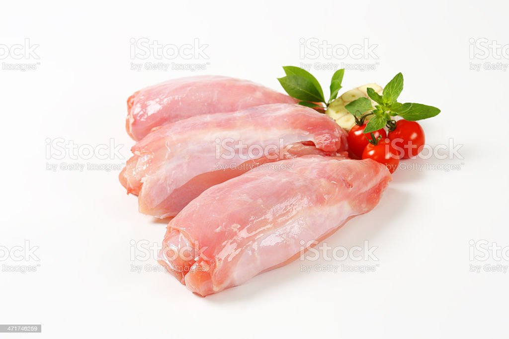 rabbit saddles and garnish stock photo