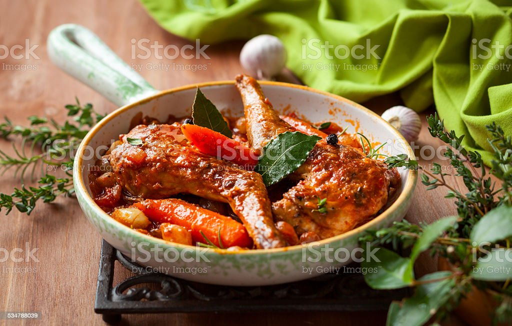 Rabbit stew stock photo