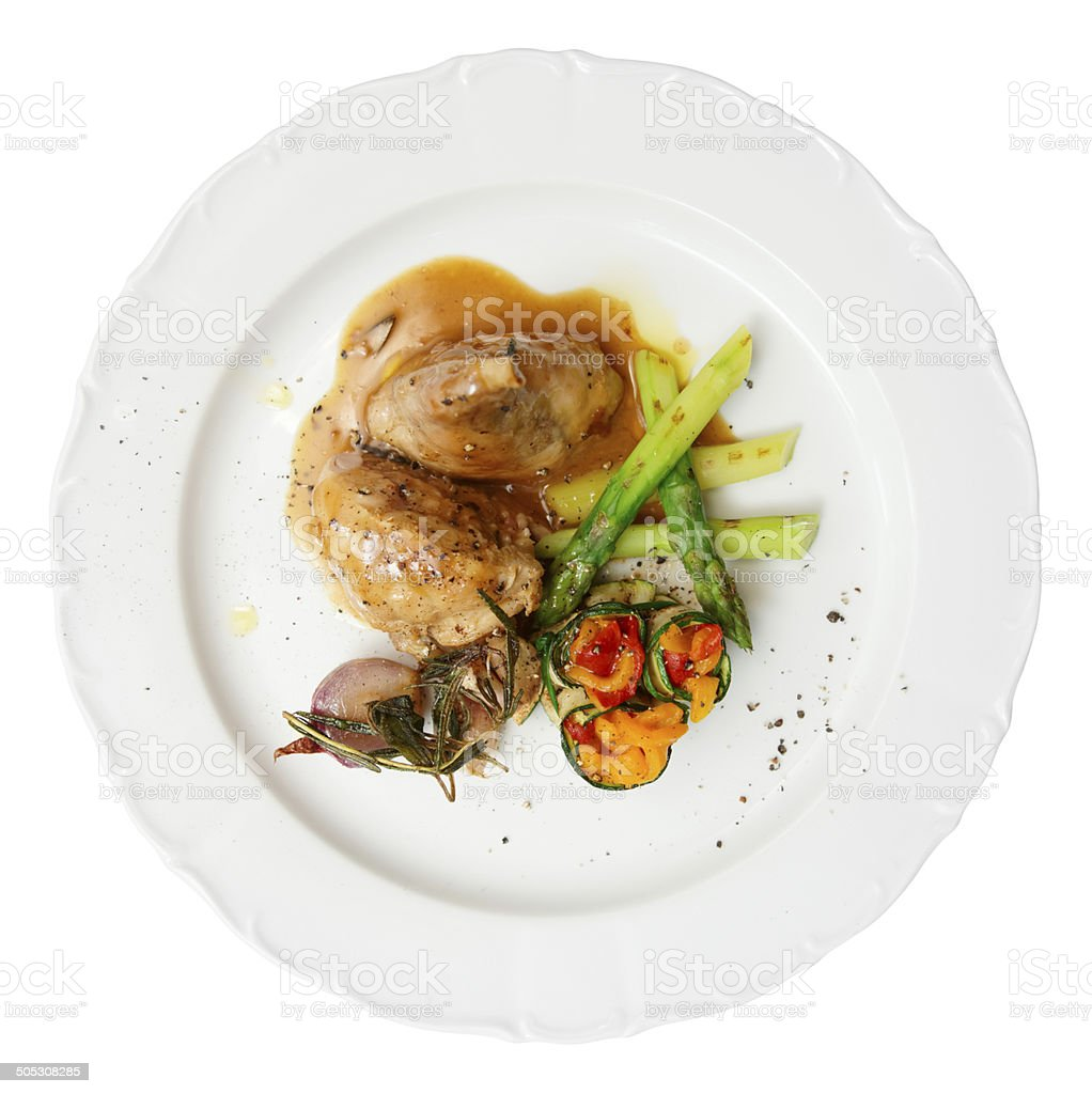 Rabbit stew with vegetables stock photo