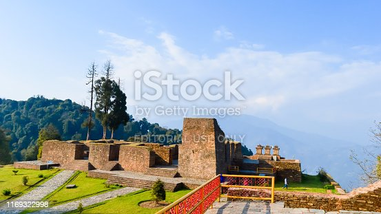 Rabdentse ruins, Kingdom of Sikkim, Pelling 1 May 2018 - Rabdentse Ruins, a destroyed capital city and Buddhist religious pilgrimage circuit. Declared as monument of by Archaeological Survey of India.