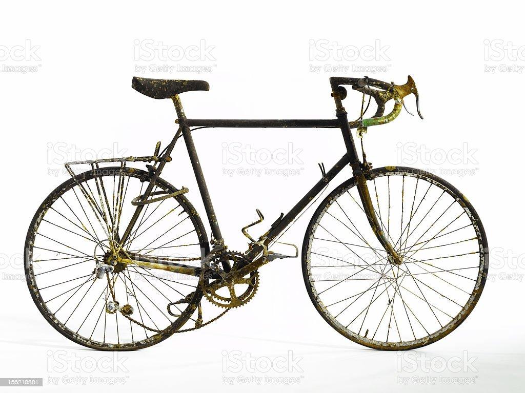 Carrera de bicicleta vieja - foto de stock
