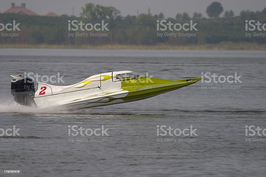 Race boat royalty-free stock photo