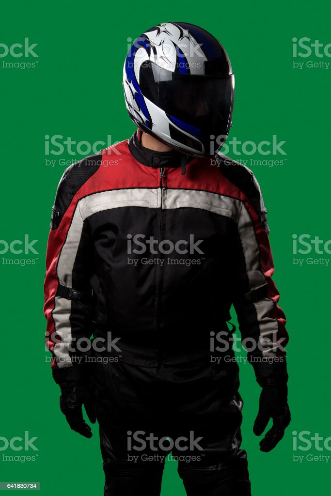Race Car Driver or Motorcycle Racer stock photo