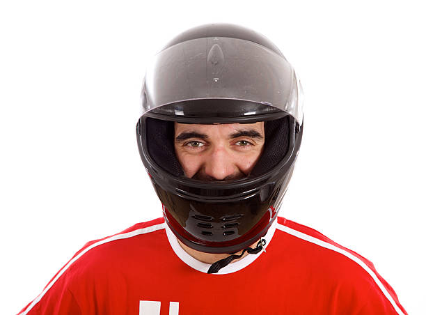 race car driver - helmet visor stock photos and pictures