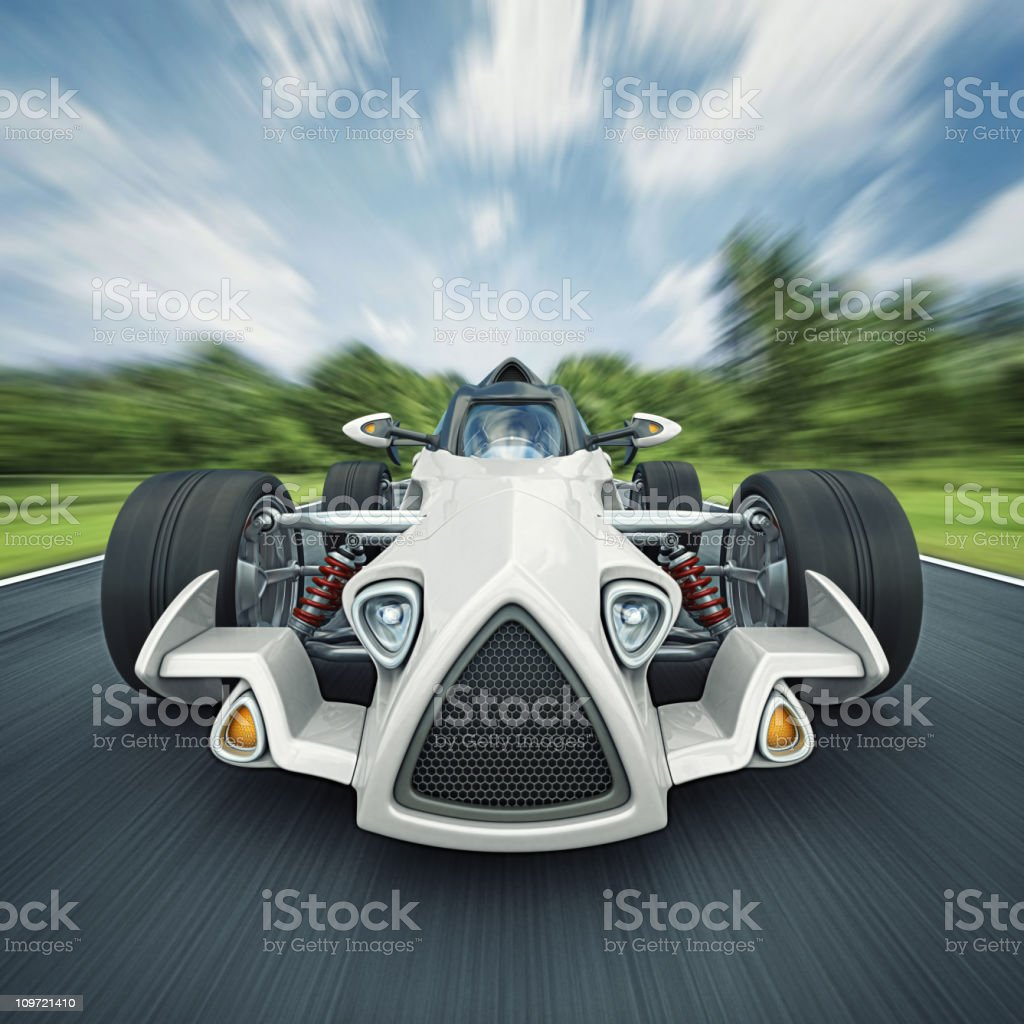 race car on the road royalty-free stock photo
