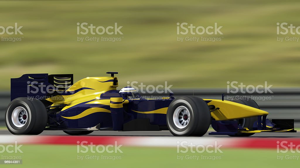 race car on track - side view royalty-free stock photo