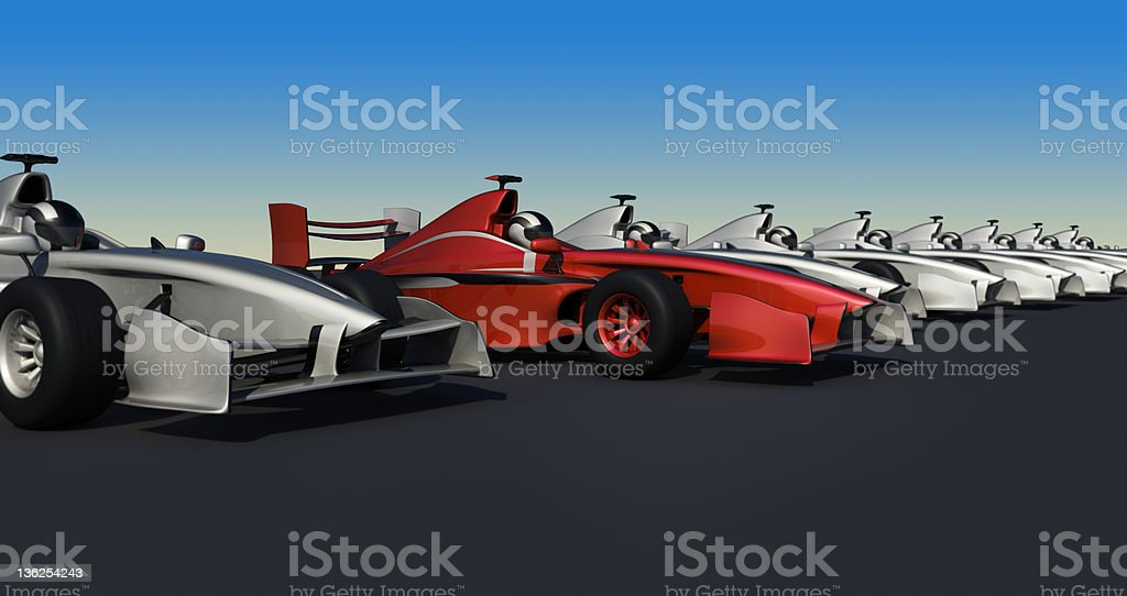 3D F1 race Car royalty-free stock photo