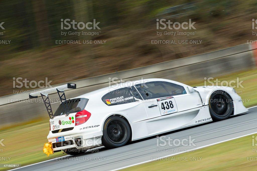 BMW 1 race car stock photo