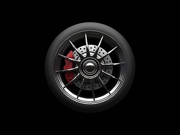 race car tire - wheel black background bildbanksfoton och bilder