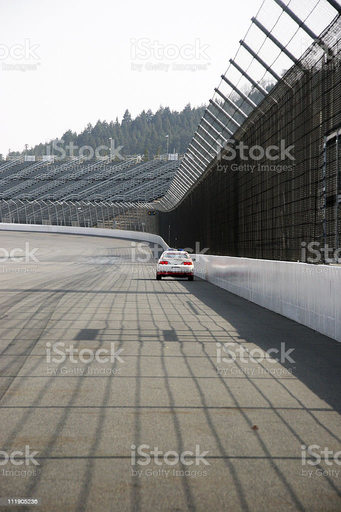 Race Car view stock photo