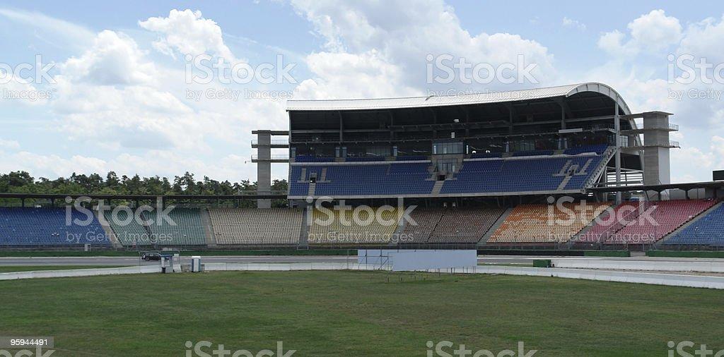 race course and tribune at Hockenheimring stock photo
