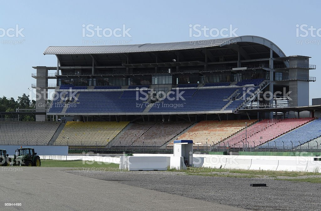 race course and tribune stock photo