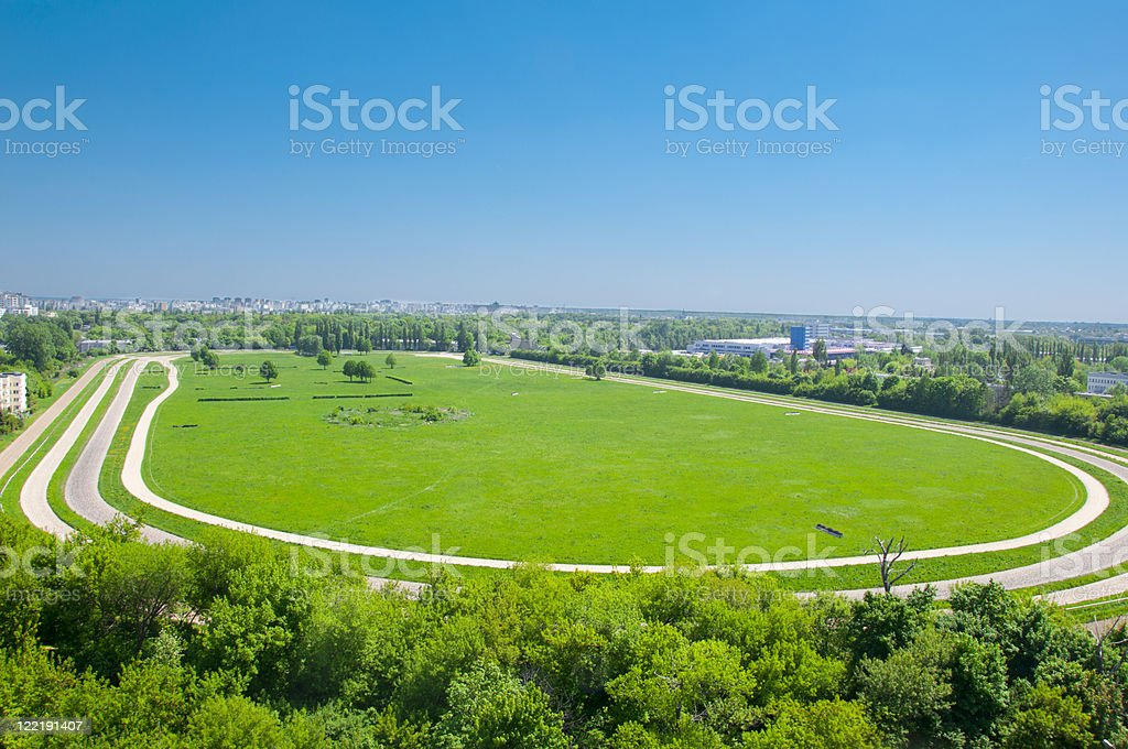 race course stock photo