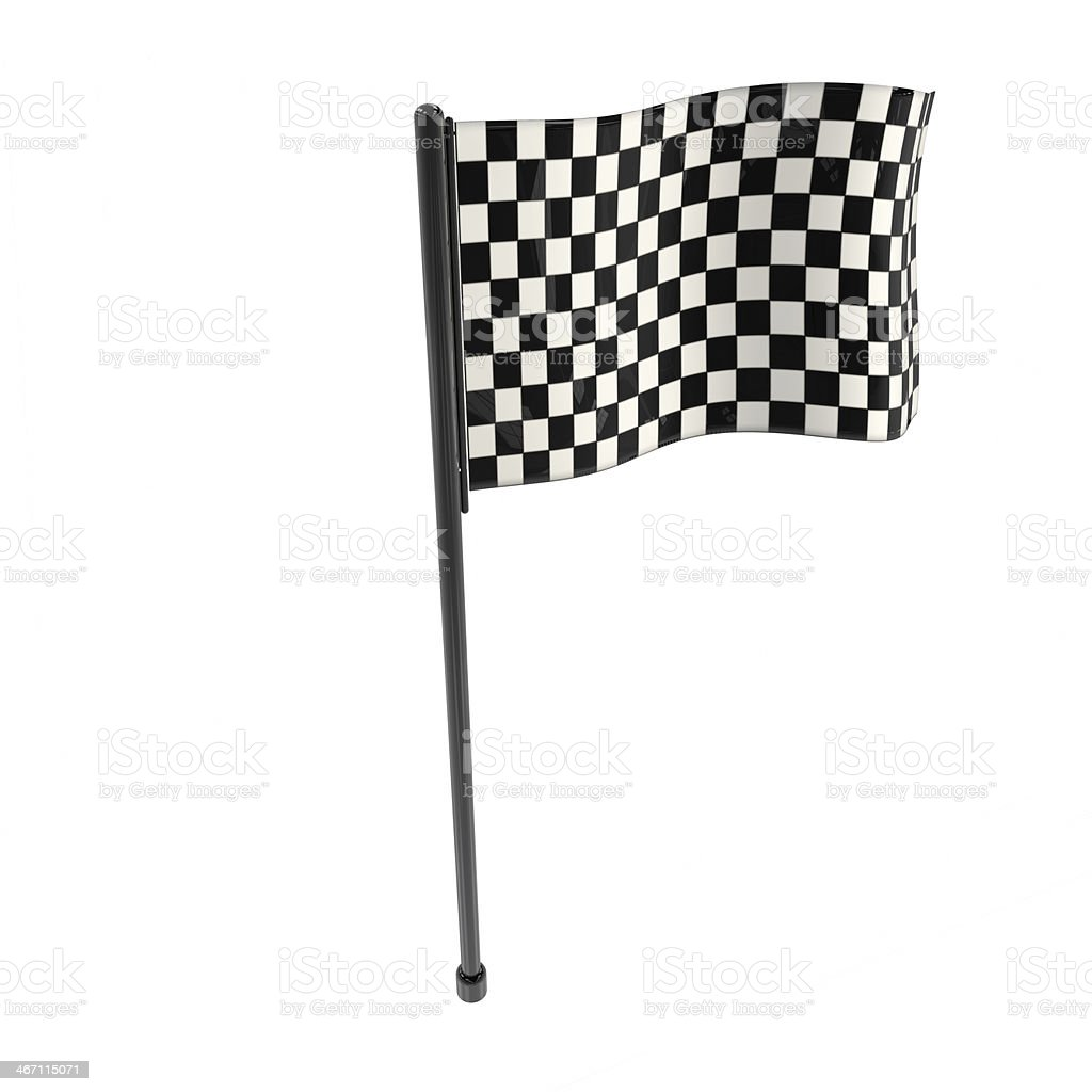 Race flag - 3d rendered illustration royalty-free stock photo