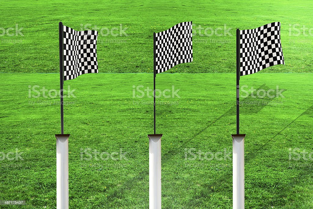 Race flags - 3d rendered illustration royalty-free stock photo