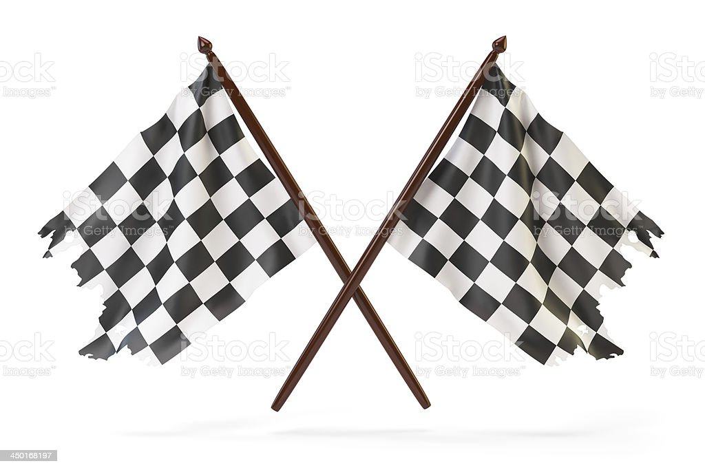 Race flags stock photo