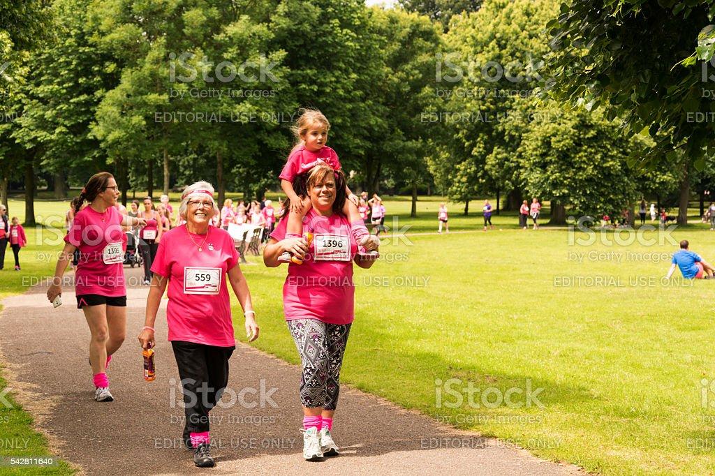 Race for Life - Charity fun run stock photo