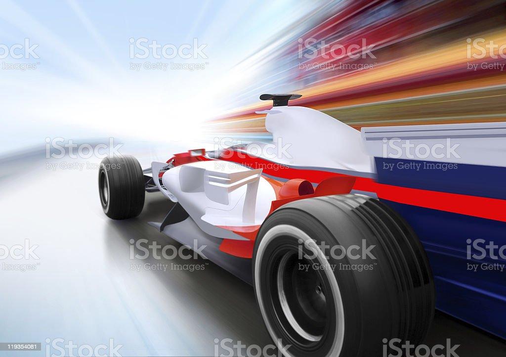 race on speed road stock photo