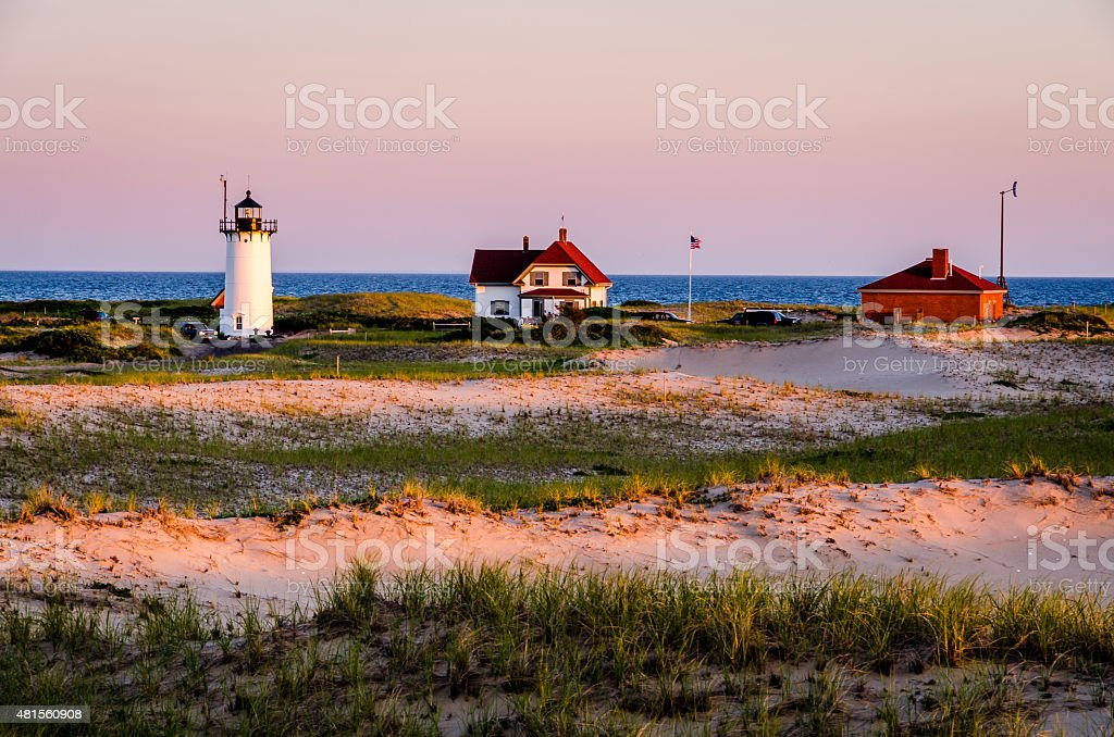 Race Point Lighthouse stock photo