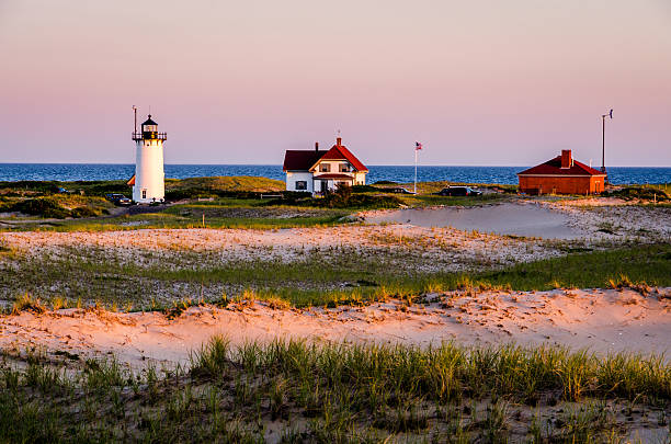 Race Point Lighthouse Cape Cod, Massachusett provincetown stock pictures, royalty-free photos & images