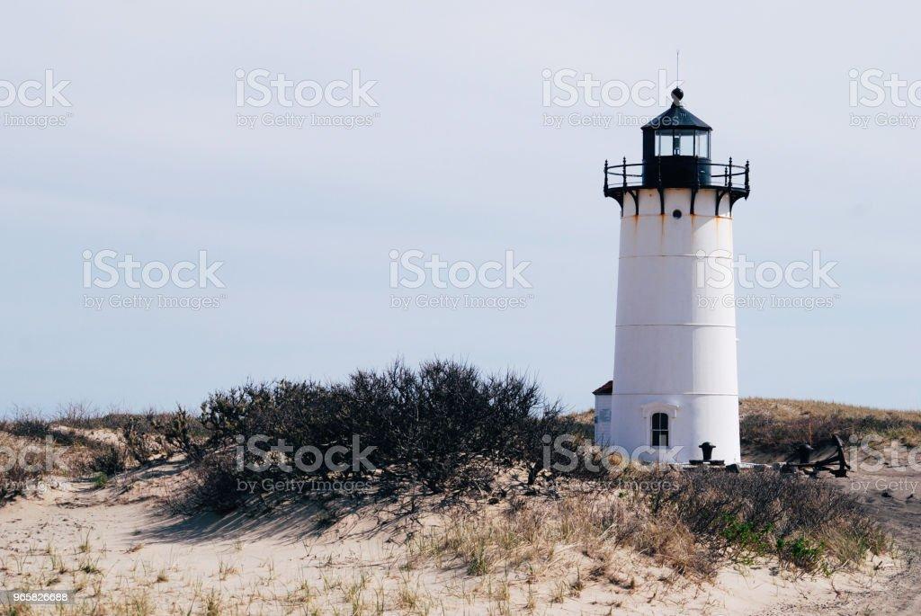 Race Point lighthouse - Royalty-free Ao Ar Livre Foto de stock