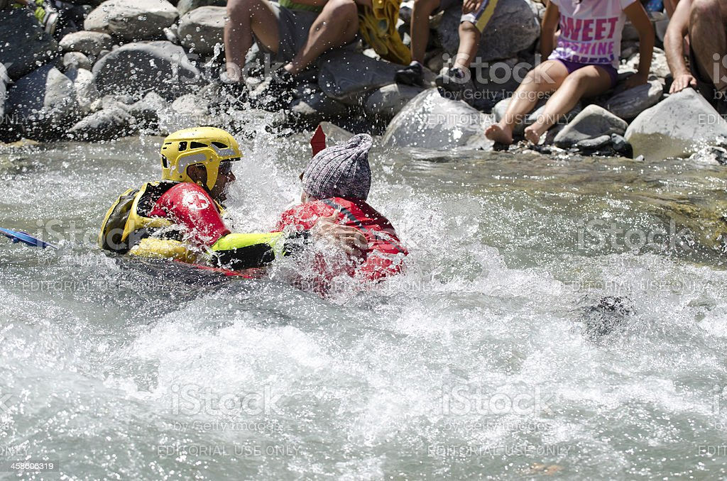 race rafting accident royalty-free stock photo