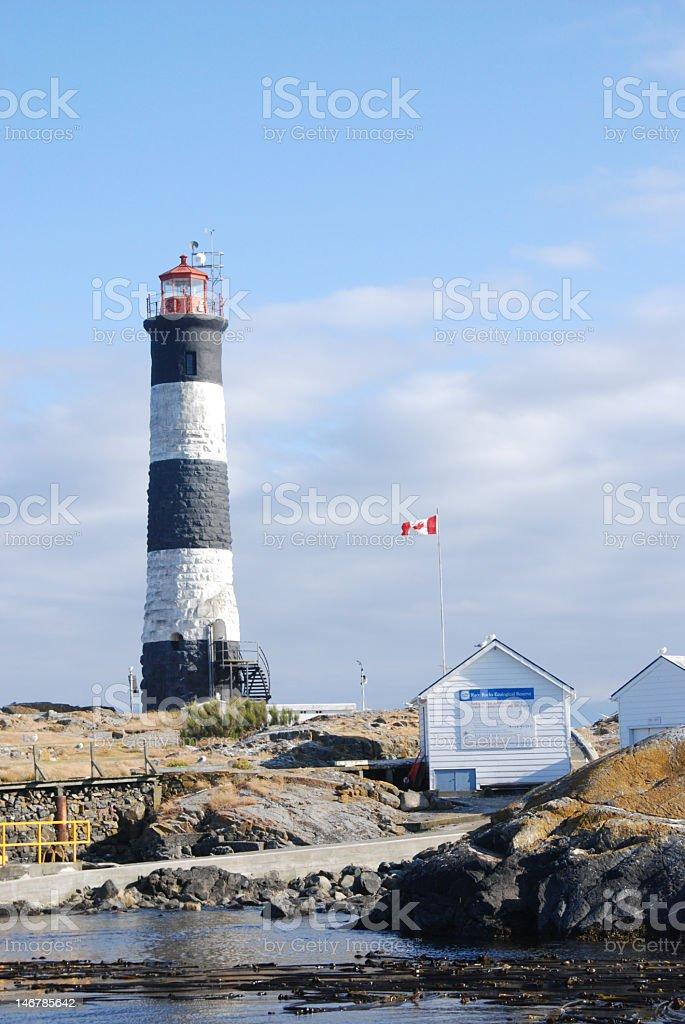 Race Rocks Light House stock photo