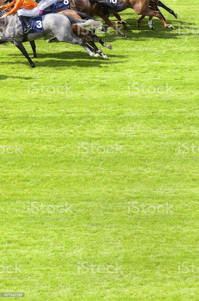 Race to the Winning Post stock photo