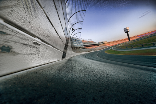 istock Race track at dawn 157393956