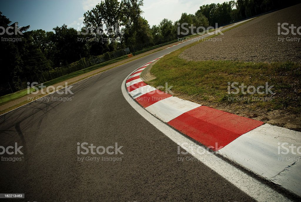 Race Track kerb stock photo