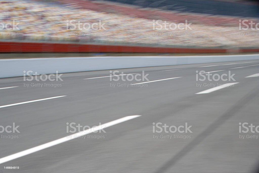 Race track pan stock photo
