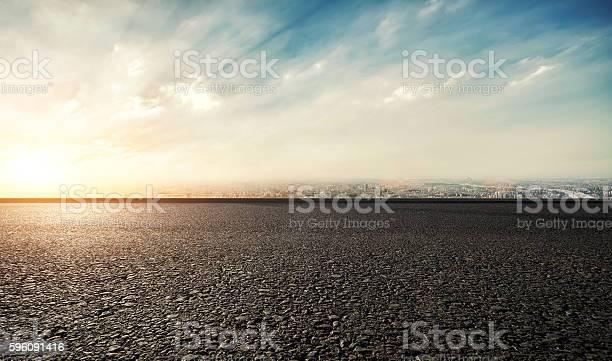 Urban landscape road