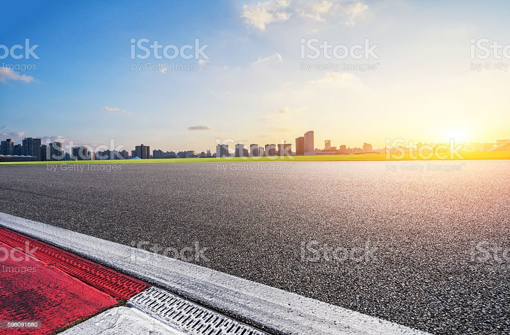 Race Track Sunset royalty-free stock photo