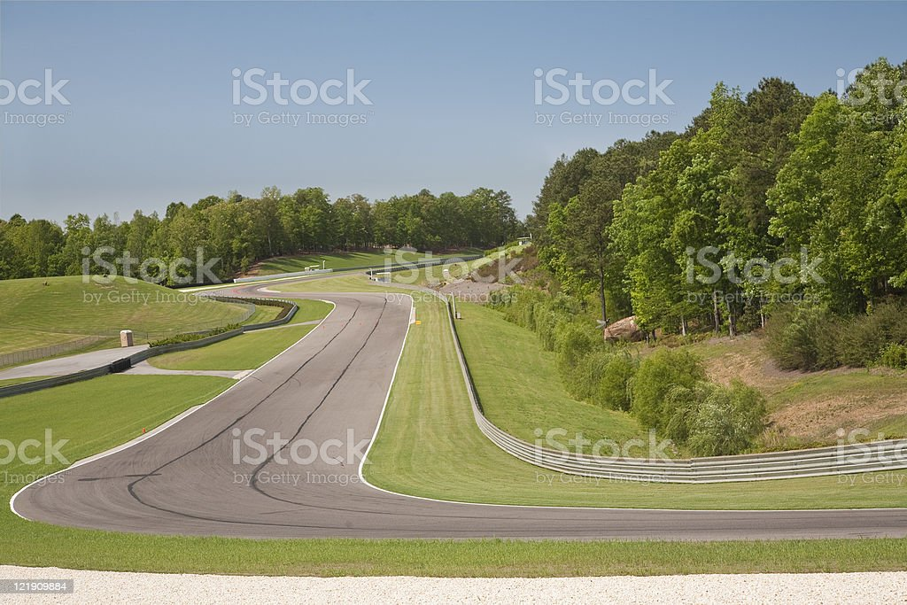 Race Track Turn royalty free stockfoto
