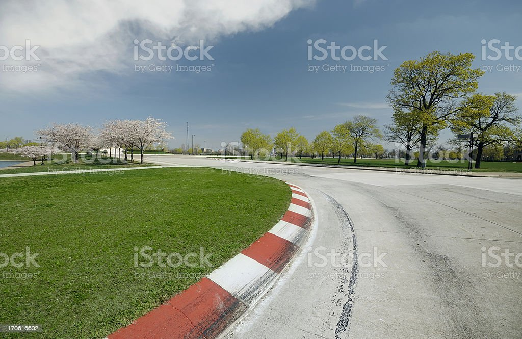 Race Track Turn royalty-free stock photo