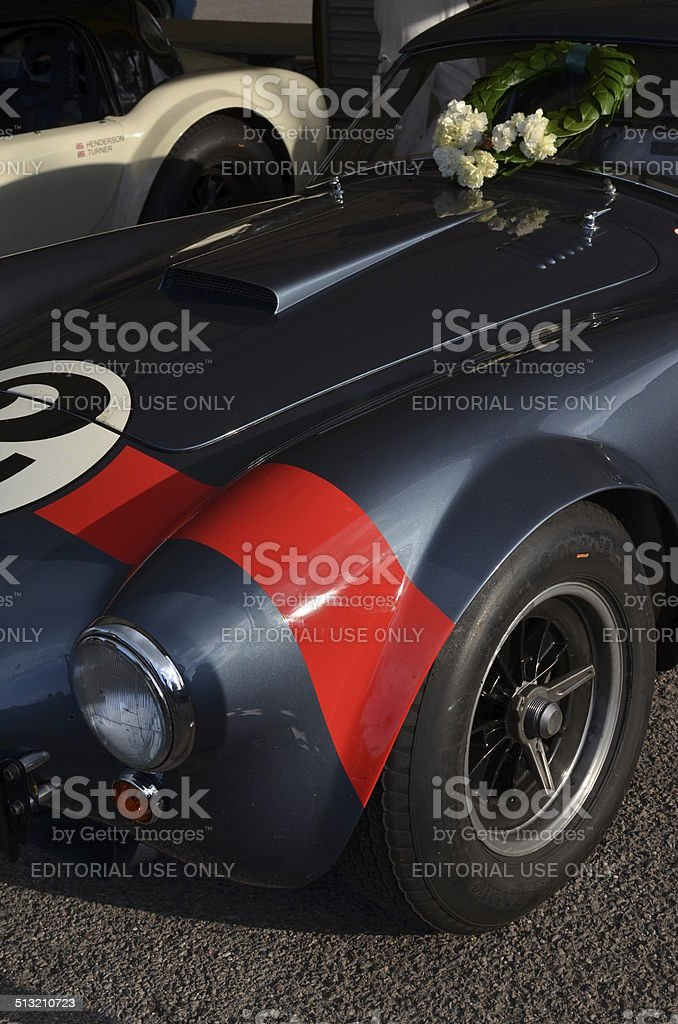 Race win at the Goodwood Revival. stock photo