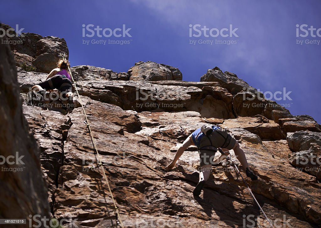 Race you to the top? royalty-free stock photo