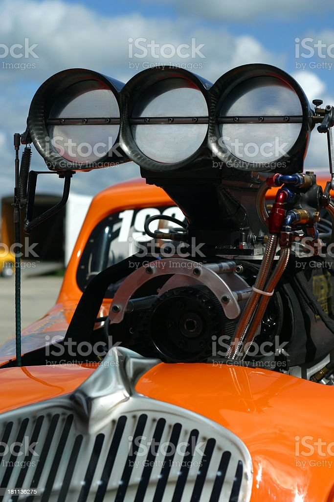 Racecar Engine royalty-free stock photo