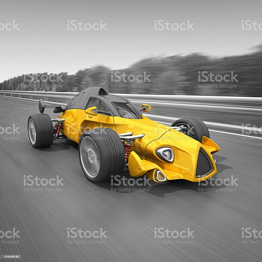 racecar on the road royalty-free stock photo