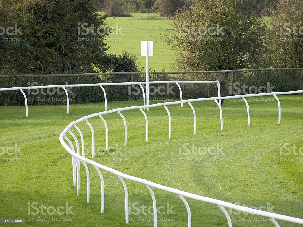racecourse stock photo