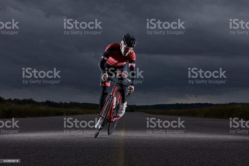 Racer Biker stock photo