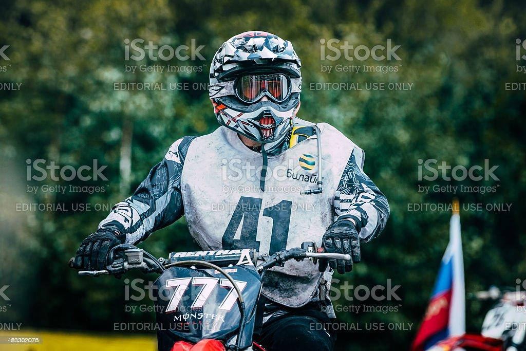 racer motocross stock photo