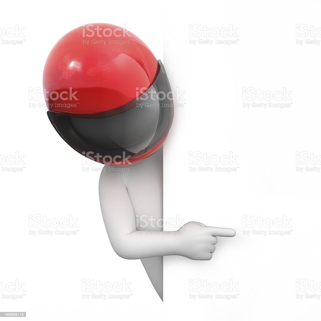 racer points a finger royalty-free stock photo