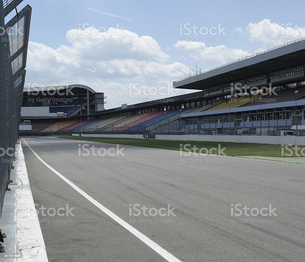 racetrack detail in Hockenheim stock photo